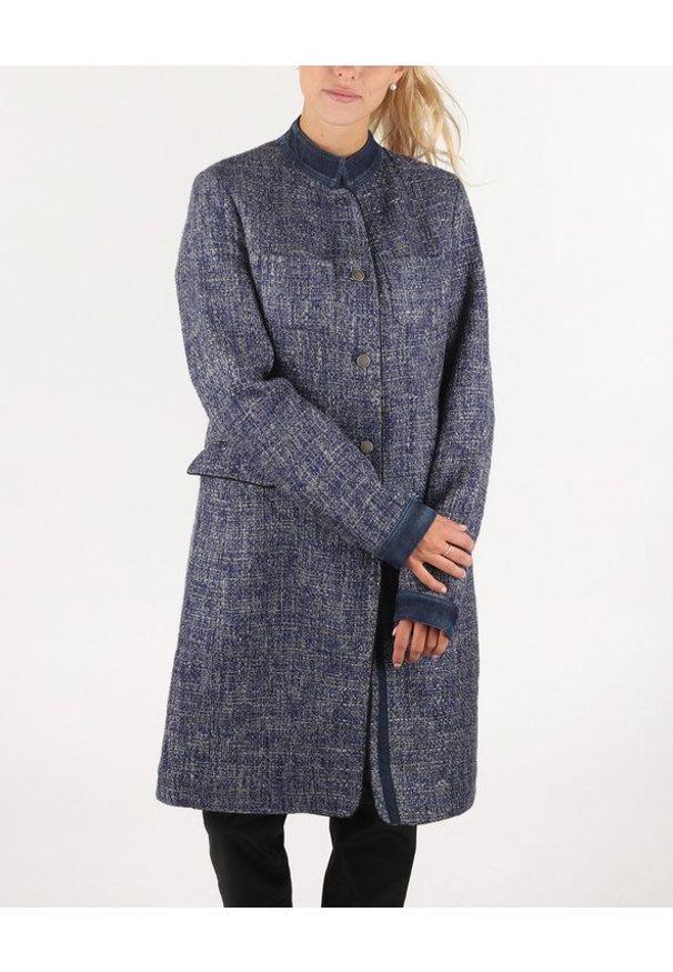 Niebieski płaszcz Gas casualowy, na zimę, na co dzień