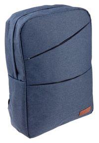 ROVICKY - Plecak męski granatowy Rovicky NB9704-4382 NAVY. Kolor: niebieski. Materiał: skóra. Styl: sportowy