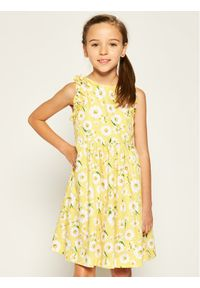 Żółta sukienka Mayoral na co dzień, prosta, casualowa