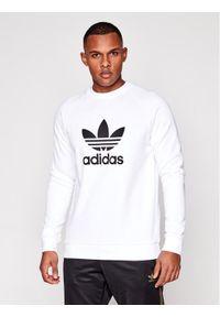 Adidas - adidas Bluza Trefoil Crew DV1544 Biały Standard Fit. Kolor: biały