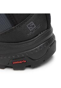 Szare buty trekkingowe salomon trekkingowe, z cholewką