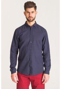 Niebieska koszula JOOP! Jeans biznesowa, na co dzień, na lato