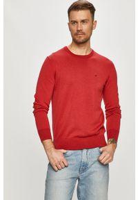 Czerwony sweter Calvin Klein gładki, na co dzień, casualowy