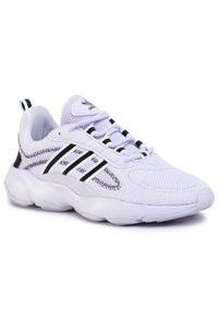 Fioletowe półbuty Adidas z cholewką, na co dzień