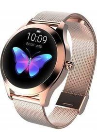 Smartwatch Active Band KW10 Różowe złoto. Rodzaj zegarka: smartwatch. Kolor: wielokolorowy, złoty, różowy