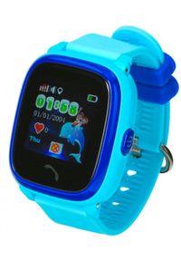 Niebieski zegarek GARETT retro, smartwatch