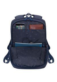 Niebieski plecak na laptopa RIVACASE w kolorowe wzory