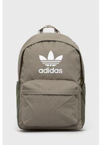 adidas Originals - Plecak. Kolor: zielony. Materiał: materiał
