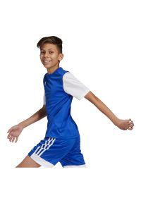 Adidas - Koszulka piłkarska dla dzieci adidas Estro 19 Jr DP3217. Materiał: materiał, syntetyk, włókno, skóra, poliester. Długość rękawa: krótki rękaw. Technologia: ClimaLite (Adidas). Długość: krótkie. Sport: piłka nożna #5
