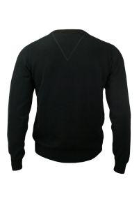 Czarny sweter Adriano Guinari do pracy, elegancki, z dekoltem w kształcie v