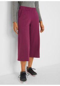 Fioletowe spodnie bonprix sportowe