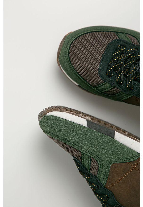 Zielone buty sportowe Pepe Jeans z cholewką, z okrągłym noskiem