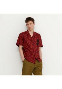 House - Wzorzysta koszula z krótkim rękawem - Wielobarwny. Długość rękawa: krótki rękaw. Długość: krótkie
