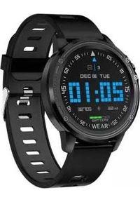 Czarny zegarek Microwear smartwatch