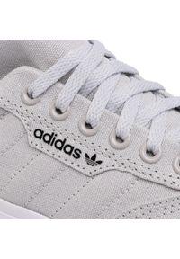Szare półbuty Adidas eleganckie, z cholewką, na co dzień