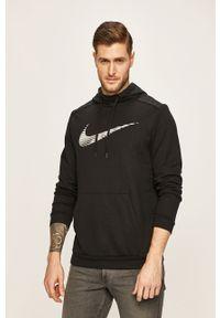 Czarna bluza nierozpinana Nike na co dzień, z kapturem