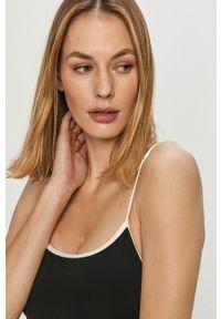 Czarny strój kąpielowy Kate Spade z odpinanymi ramiączkami, z aplikacjami