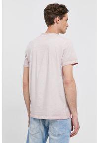 Pepe Jeans - T-shirt West. Okazja: na co dzień. Kolor: różowy. Wzór: nadruk. Styl: casual
