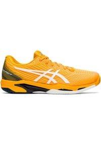 Asics - Buty Tenis Gel Solution Speed 2 Męskie Na Mączkę Ceglaną. Kolor: żółty, wielokolorowy, niebieski. Materiał: kauczuk. Sport: tenis