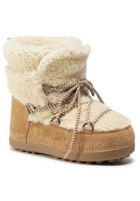 Brązowe śniegowce Bogner