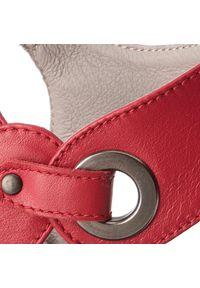 Czerwone sandały Edeo eleganckie