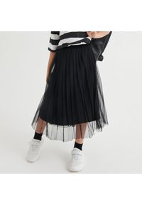Reserved - Plisowana spódnica - Czarny. Kolor: czarny