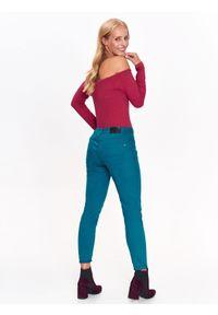 Czerwona bluzka TOP SECRET z długim rękawem, długa, elegancka
