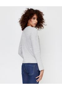 COMME DES GARCONS PLAY - Szara bluzka z dużym sercem. Kolor: szary. Materiał: jeans, bawełna. Długość rękawa: długi rękaw. Długość: długie