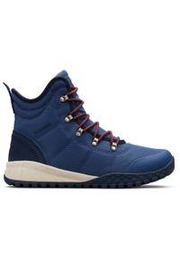 Niebieskie buty zimowe columbia na zimę