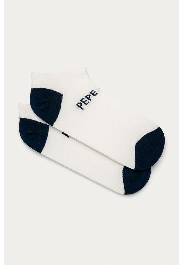 Białe skarpetki Pepe Jeans z nadrukiem