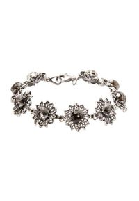 Polcarat Design - Bransoletka srebro Swarovski L 1611. Materiał: srebrne. Wzór: aplikacja, kwiaty. Kamień szlachetny: kryształ