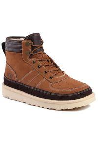 Brązowe buty zimowe Ugg sportowe
