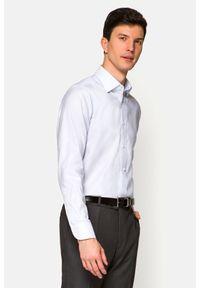 Lancerto - Koszula Jasnoszara Josephine. Kolor: szary. Materiał: bawełna, jeans, tkanina, wełna. Wzór: ze splotem