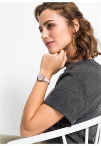 Różowy zegarek bonprix