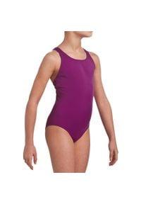 NABAIJI - Strój Jednoczęściowy Pływacki Leony Dla Dzieci. Kolor: fioletowy. Materiał: poliamid, materiał, poliester, elastan