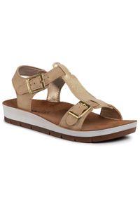 Złote sandały Inblu na co dzień, casualowe