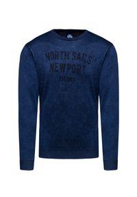 Szary sweter North Sails z nadrukiem, vintage