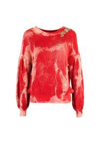"""Pinko Sweter """"Tremiti"""". Materiał: bawełna. Długość rękawa: długi rękaw. Długość: długie. Wzór: aplikacja"""