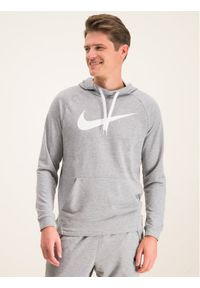 Nike Bluza Dry Hoodie 885818 Szary Standard Fit. Kolor: szary
