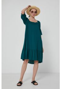 medicine - Medicine - Sukienka Divine Love 2. Kolor: zielony. Materiał: tkanina. Typ sukienki: rozkloszowane