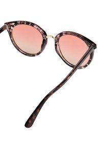 Brązowe okulary przeciwsłoneczne TOP SECRET z aplikacjami, okrągłe