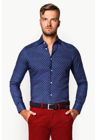 Niebieska koszula Lancerto z haftami, na wiosnę