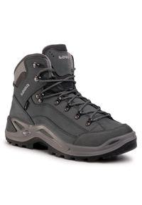 Szare buty trekkingowe Lowa z cholewką, Gore-Tex