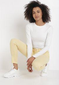 Żółte spodnie skinny Born2be #6