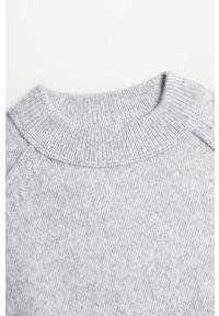 Szary sweter Mango Kids raglanowy rękaw #3