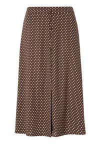 Happy Holly Spódnica Frida brązowy w kropki female brązowy/ze wzorem 32/34. Kolor: brązowy. Materiał: tkanina, materiał, guma. Wzór: kropki