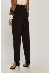 Czarne spodnie materiałowe Sportmax Code casualowe, z podwyższonym stanem, na co dzień