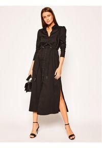 Czarna sukienka koszulowa Patrizia Pepe