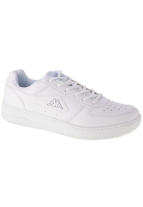 Białe sneakersy Kappa z cholewką