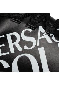 Czarne sneakersy Versace Jeans Couture na co dzień, z cholewką